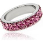 Prsten chirurgická ocel barevné krystalky PR0055-015706