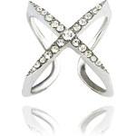 Prsten originální s krystalky překřížený PR0038-035812