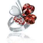 Prsten čtyřlístek s krystaly Swarovski elements PR0020-035X03