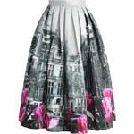 Chicwish dámská sukně midi MĚSTO S TULIPÁNY velikost oblečení: S