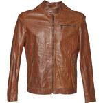 Baťa Pánská kožená bunda se stylovým prošitím