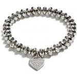 GUESS GUESS Silver-Tone Logo Heart Bracelet - silver