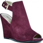 GUESS GUESS Faydra Wedges - red faux-suede