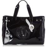 Armani Jeans Kabelka Shopping Bag With Charms, černá