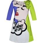More´Moi Dámské šaty Comic Blonde