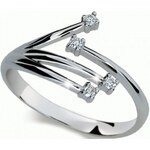 Danfil Zlatý prsten s diamanty DF2063b