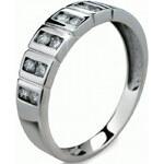 Danfil Luxusní zlatý prsten s diamanty DF2079b