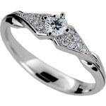 Danfil Luxusní zásnubní prsten s diamanty DF2104b