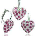 MHM Souprava šperků Srdíčko růžová 34109