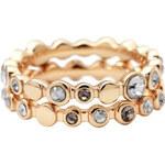 DKNY Dvojitý prsten s krystaly NJ1694040