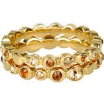 DKNY Dvojitý zlatý prsten s krystaly NJ1693040