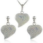 MHM Souprava šperků Srdce M5 Crystal AB 34165