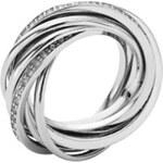 DKNY Zatočený prsten s krystaly NJ1878040