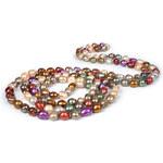 JwL Jewellery Dlouhý perlový náhrdelník z pravých multibarevných perel JL0015