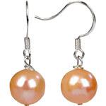 JwL Jewellery Náušnice s pravou lososovou perlou JL0025