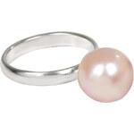JwL Jewellery Prsten s pravou růžovou perlou sJL0033