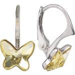 Troli Dívčí stříbrné náušnice Butterfly 8 mm Jonquil