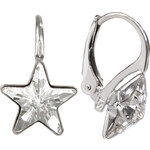 Troli Dívčí stříbrné náušnice Star 10 mm Crystal