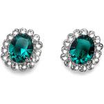 Oliver Weber Náušnice Genuine Emerald 5531-205