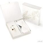 Lelo Luxusní erotická sada Pro nevěsty: intimní masážní strojek Lelo NOA, páska na oči, semišový bičík