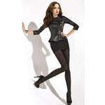 Gatta Černé dámské punčochové kalhoty Black Diamond nero silver
