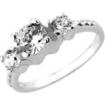 Silvego Zirkonový zásnubní prsten Via ze stříbra JJJR0801