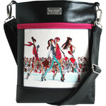 Dara bags Crossbody kabelka Puzzle Ruby No. 50 I Love Paris