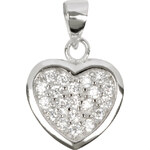 Beneto Stříbrný přívěsek srdce AGH13