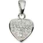Beneto Stříbrné srdce s krystaly AGH19