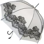 Blooming Brollies Dámský holový plně automatický deštník White Vintage BCSVWH
