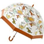 Blooming Brollies Dětský průhledný holový deštník Buggz Kids Stuff Dinosaur BUDIN