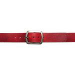 Wildskin Dámský červený kožený opasek 8680