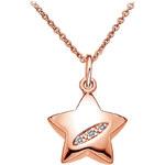 Hot Diamonds Náhrdelník Shooting Stars Rose Gold DP503