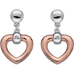 Hot Diamonds Náušnice Just Add Love Open Heart DE369