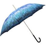 Doppler Dámský holový vystřelovací deštník Rain Art Lang Carbonsteel - tyrkysový 714765RA-03
