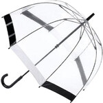 Fulton Dámský průhledný holový deštník Birdcage Black/White L041-4