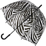 Fulton Dámský průhledný holový deštník Birdcage 2 Zebra L042-4