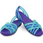 Crocs Dámské sandály Huarache Flat Island Green Ultraviolet 14121-37L