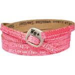 We Positive Růžový wrap náramek s nápisy 105