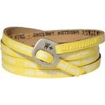 We Positive Žlutý wrap náramek s nápisy 109