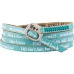 We Positive Světle modrý wrap náramek s nápisy 132