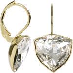 Troli Zlaté náušnice Trilliant Crystal