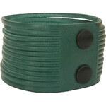 Wildskin Kožený náramek Stripes Dark Green
