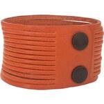 Kožený náramek Wildskin Stripes Orange