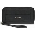 Guess Elegantní peněženka Delaney Zip-Around Black