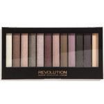 Makeup Revolution Paletka 12 očních stínů Romantic Smoked 14 g