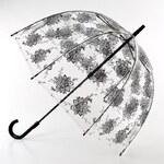 Fulton Dámský průhledný holový deštník Birdcage 2 Flora L042-5