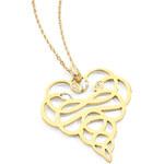 Just Cavalli Pozlacený náhrdelník Medusa SCACC01