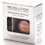 Makeup Revolution Sada na tvorbu metalických stínů (Awesome Metals Eye Foil Finish) 1,5 g