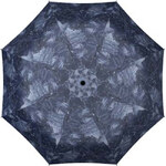Doppler Dámský skládací mechanický deštník Derby Mini Hit Jeans 700065PJ-modré kapsy